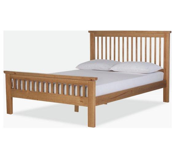 Buy Argos Home Aubrey Kingsize Bed Frame - Oak Stain | Bed frames ...