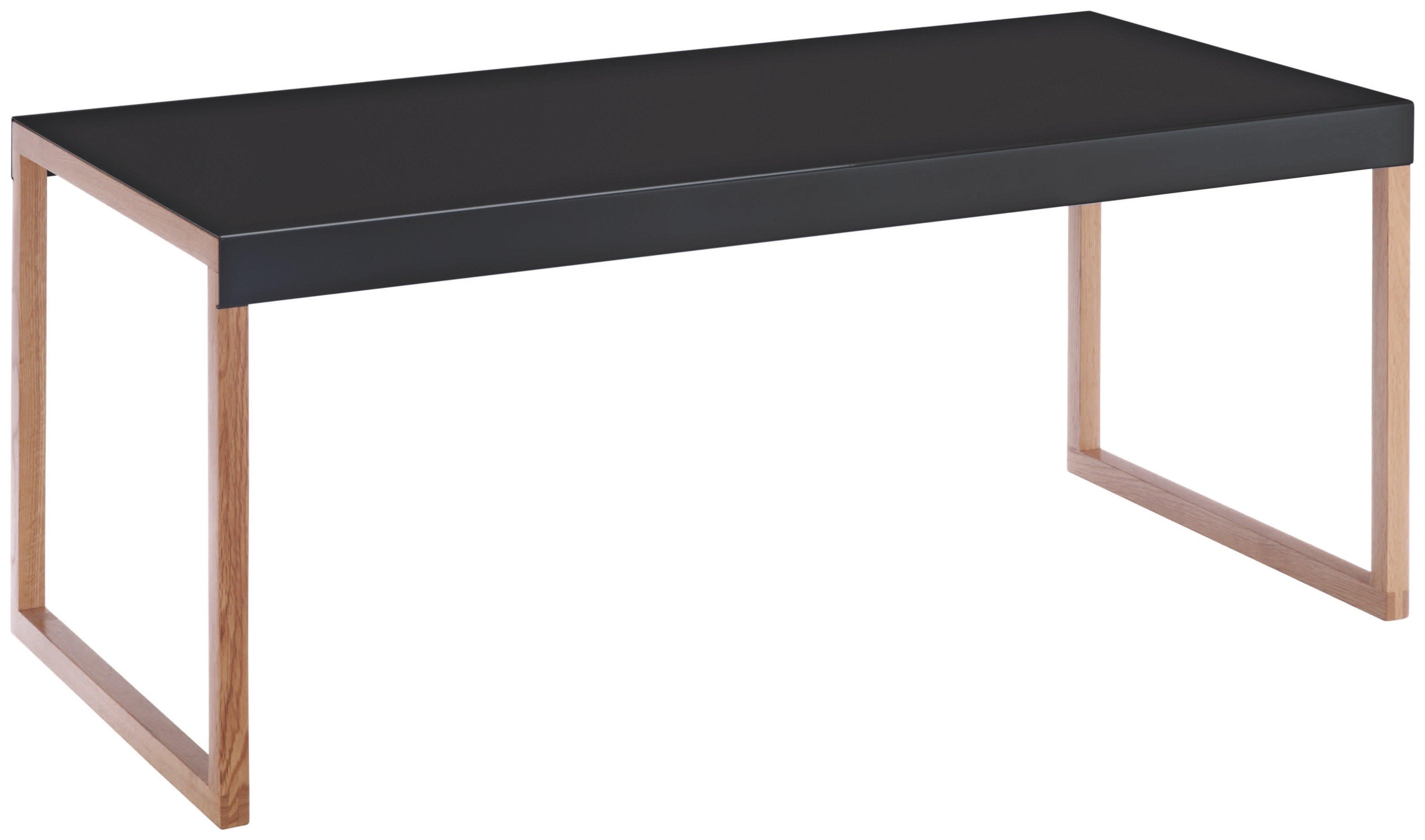 sale on habitat kilo oak legs long table black. Black Bedroom Furniture Sets. Home Design Ideas
