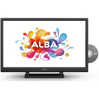 Alba 24'' 720p HD Ready Black LED TV with Built-In DVD