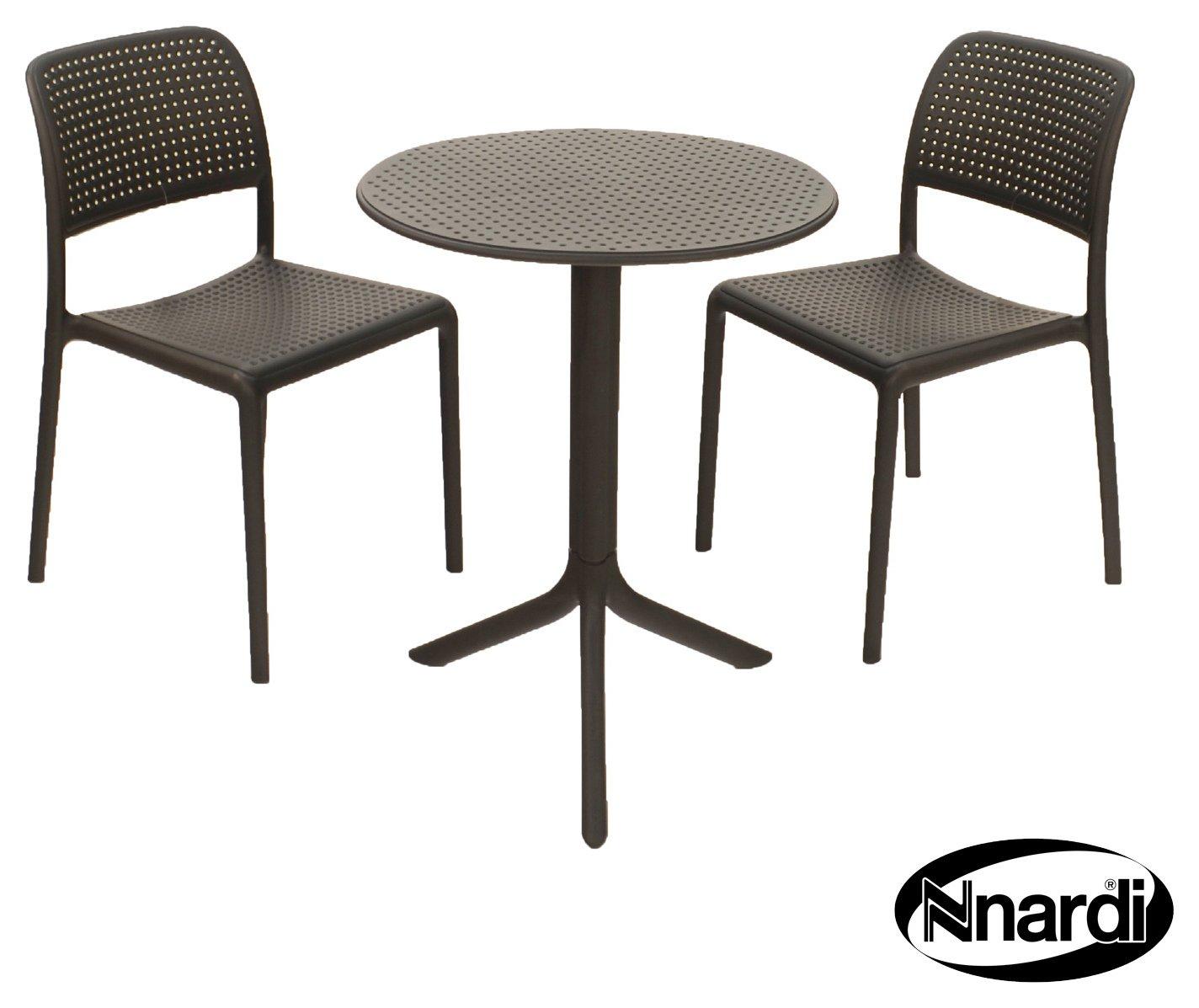 Nardi Anthracite Step 2 Seater Bistro Set - Black