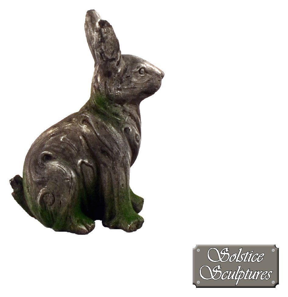 Solstice Sculptures Rabbit Garden Statue - Driftwood Effect. lowest price
