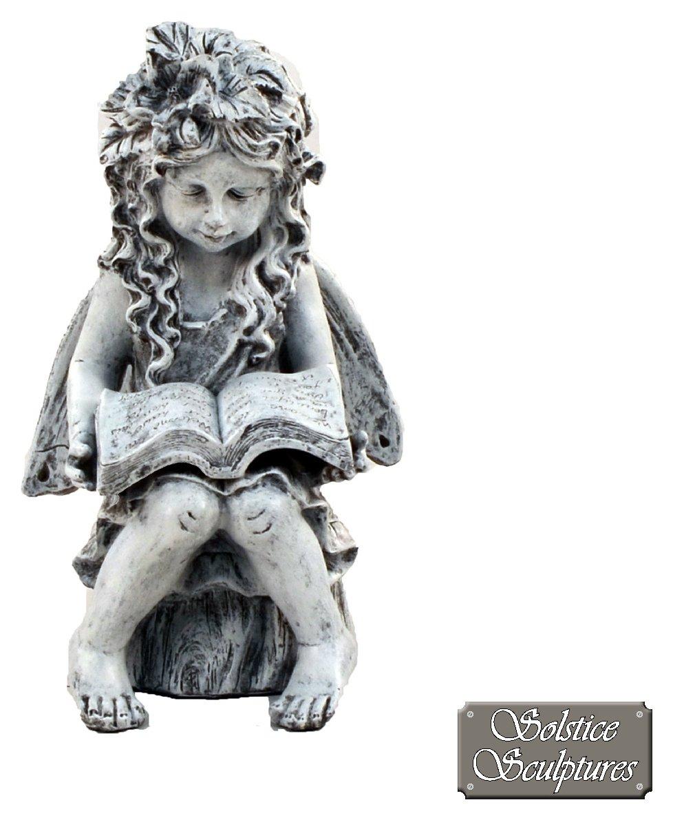 Solstice Sculptures Reading Angel Garden Statue. lowest price