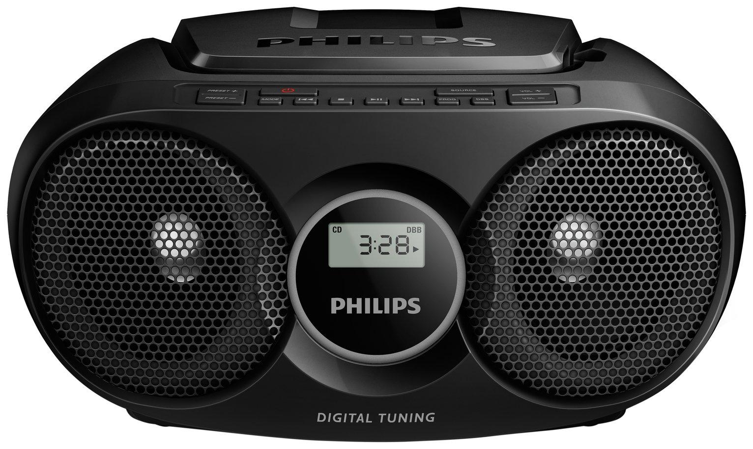 Philips - AZ215B/05 Boombox - Black