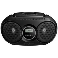 Philips - AZ215B/05 Boombox - Black