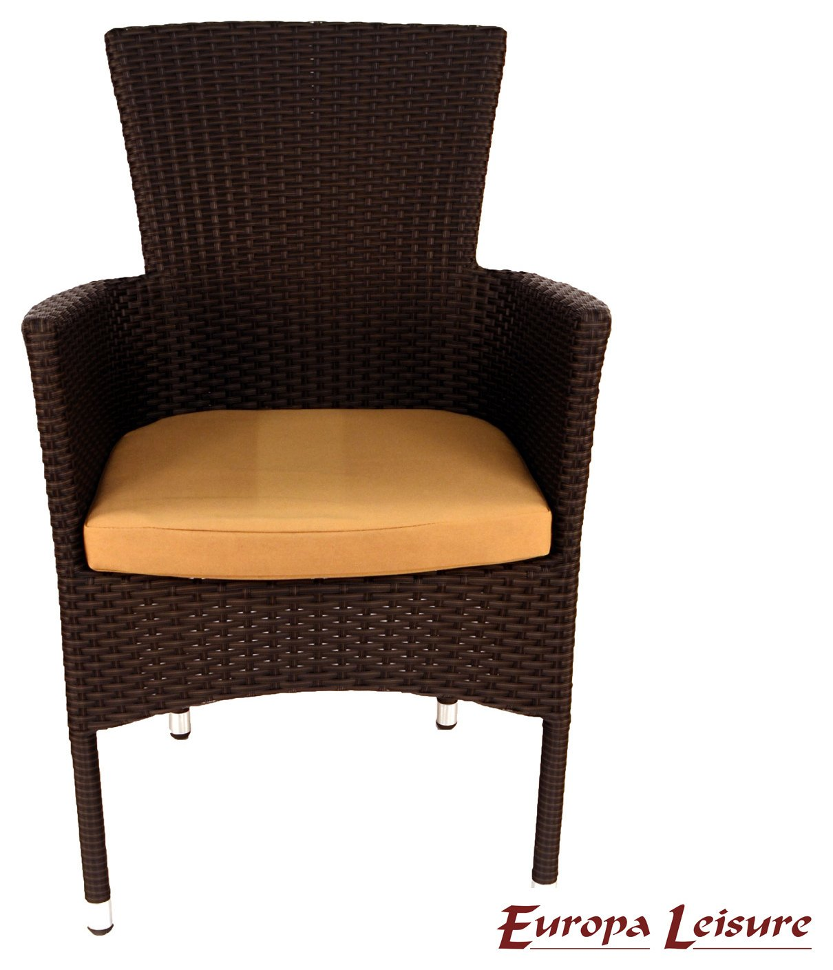 Europa Leisure Brown Stockholm Chair with Cushion Pack of 2. lowest price