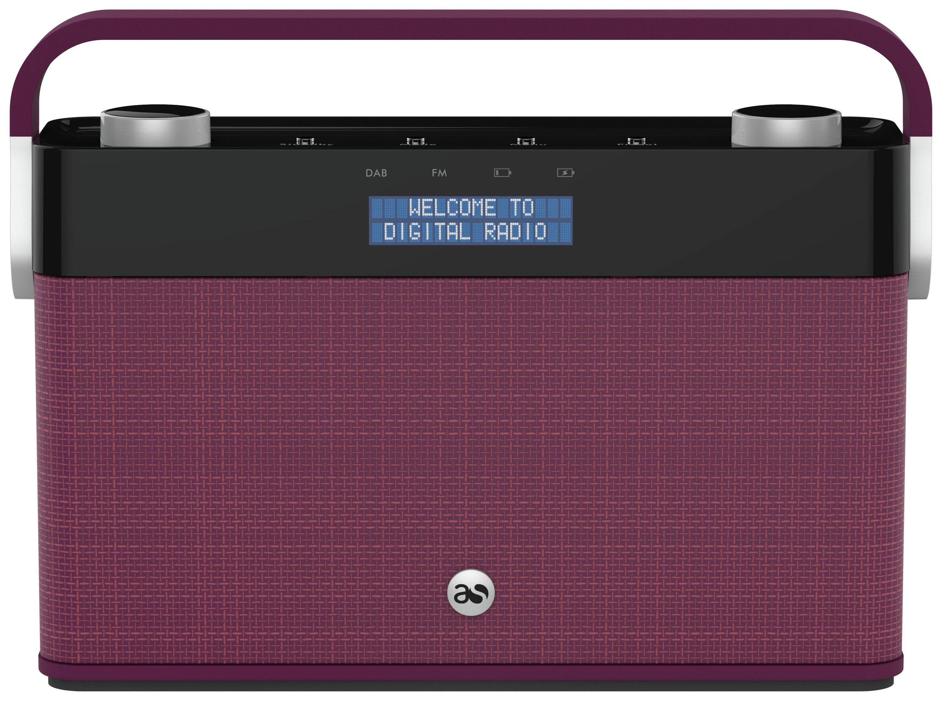 Image of Acoustic Solutions - DAB Radio - Plum