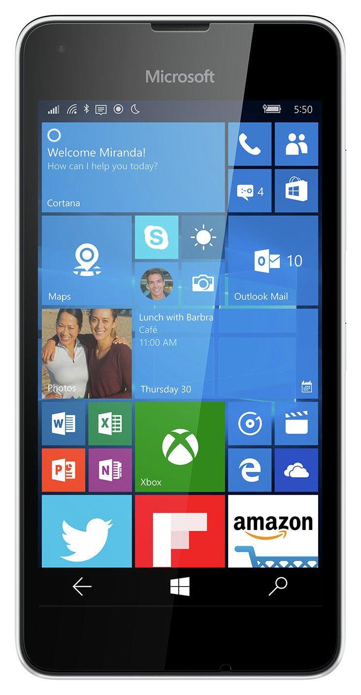 Microsoft Vodafone Microsoft Lumia 550 Mobile Phone - White.