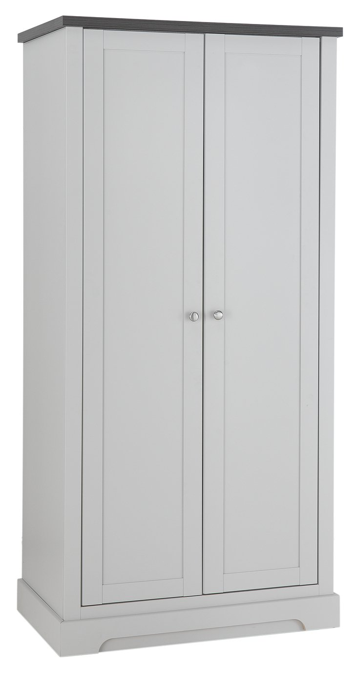 Argos Home Westbury 2 Door Wardrobe - Grey
