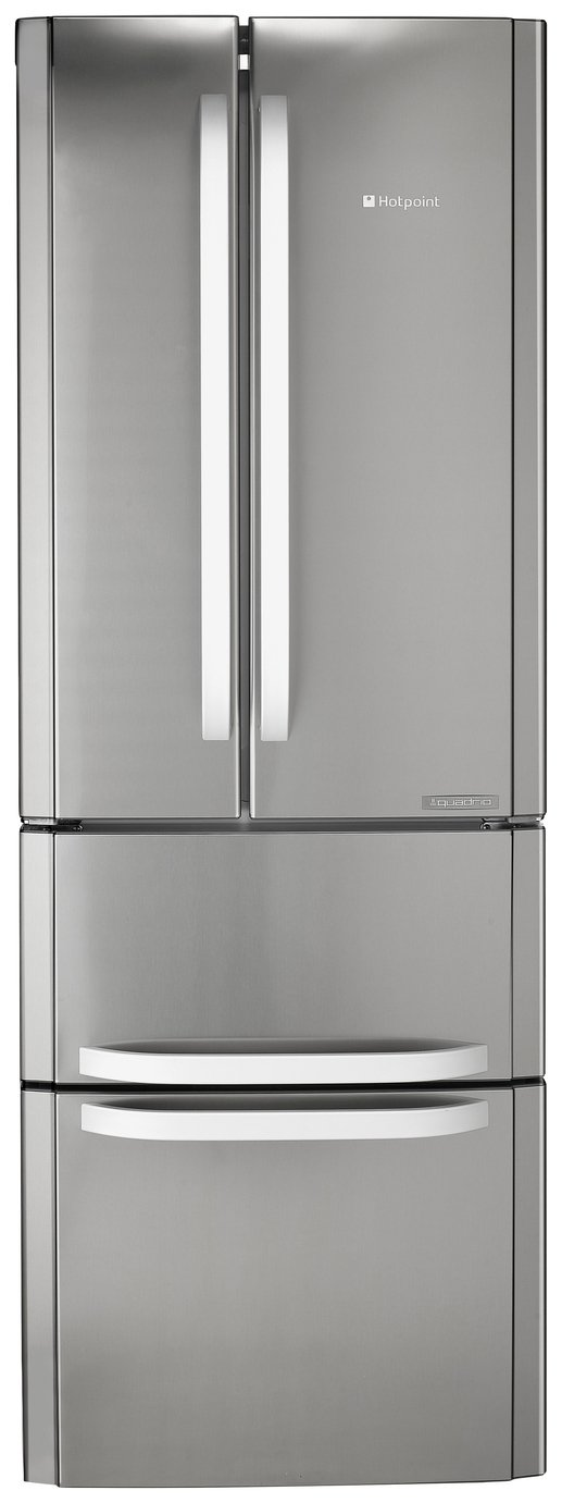 HOTPOINT FFU4DX American-Style Fridge Freezer - Stainless Steel