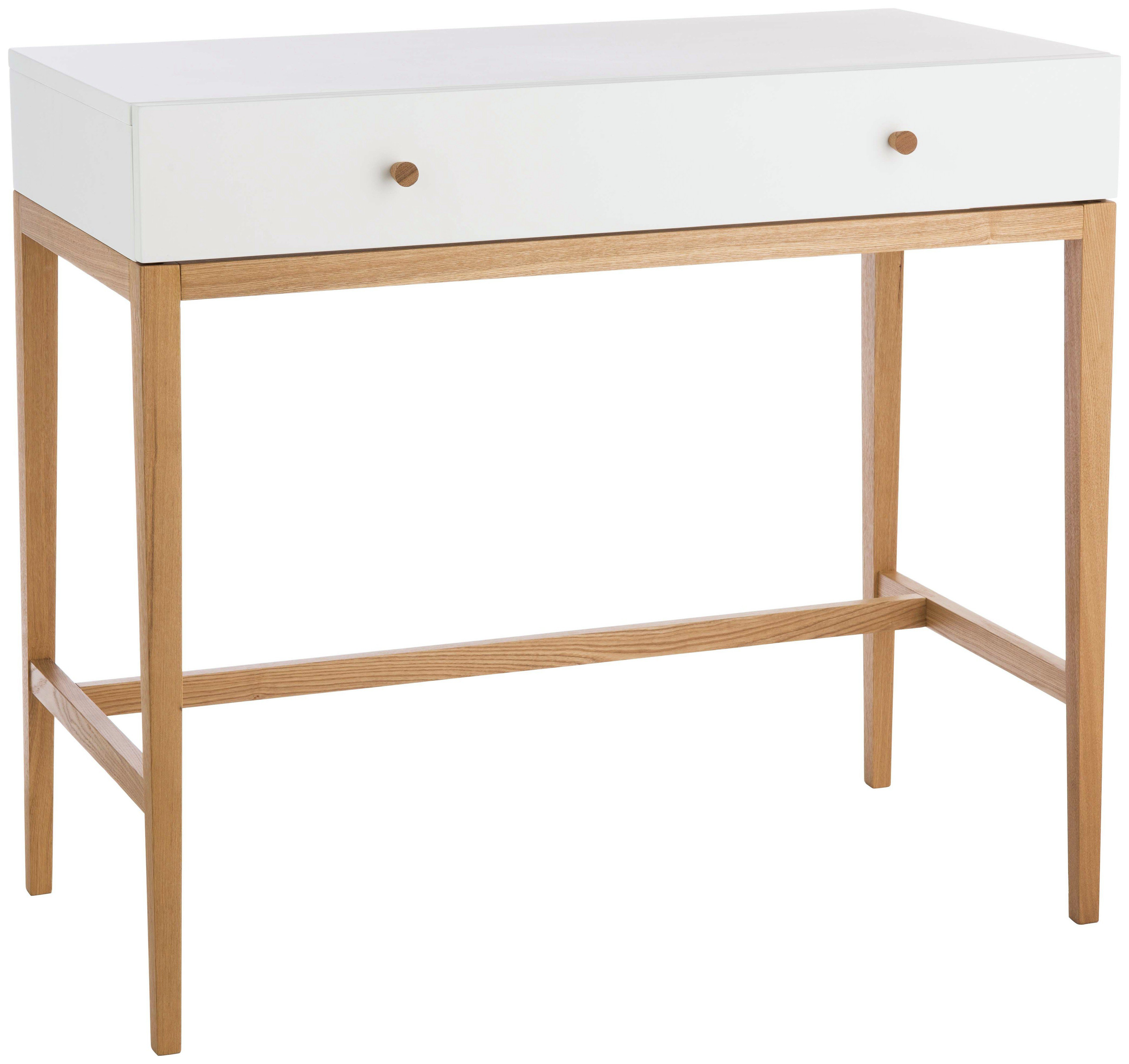 Habitat Tatsuma 1 Drawer Dressing Table - Ash & White