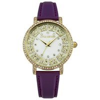 Little Mistress Ladies Stone Set Dial & Strap Watch (Purple)