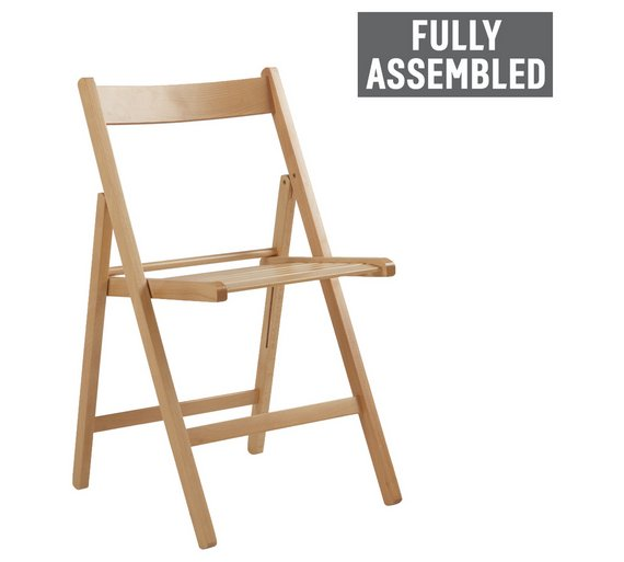 Buy Simple Value Wooden Folding Chair Natural At Argos Co Uk