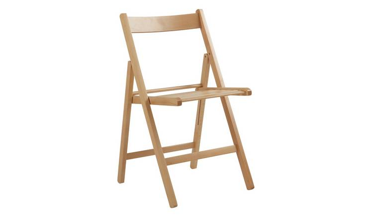 Buy Argos Home Wooden Folding Chair Natural Dining Chairs Argos