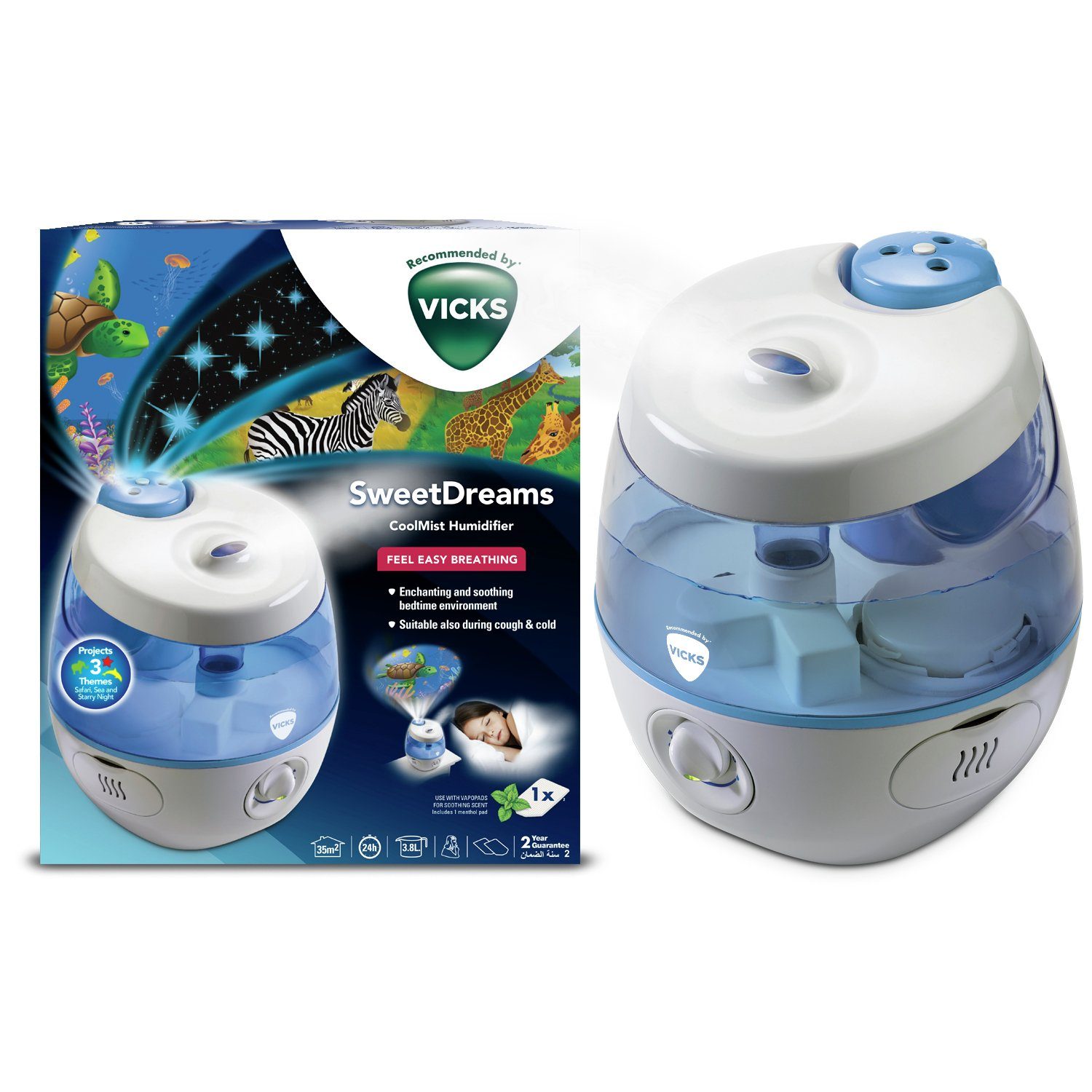 Vicks sweet dreams humidifier and projector for Humidifier cleaning fish