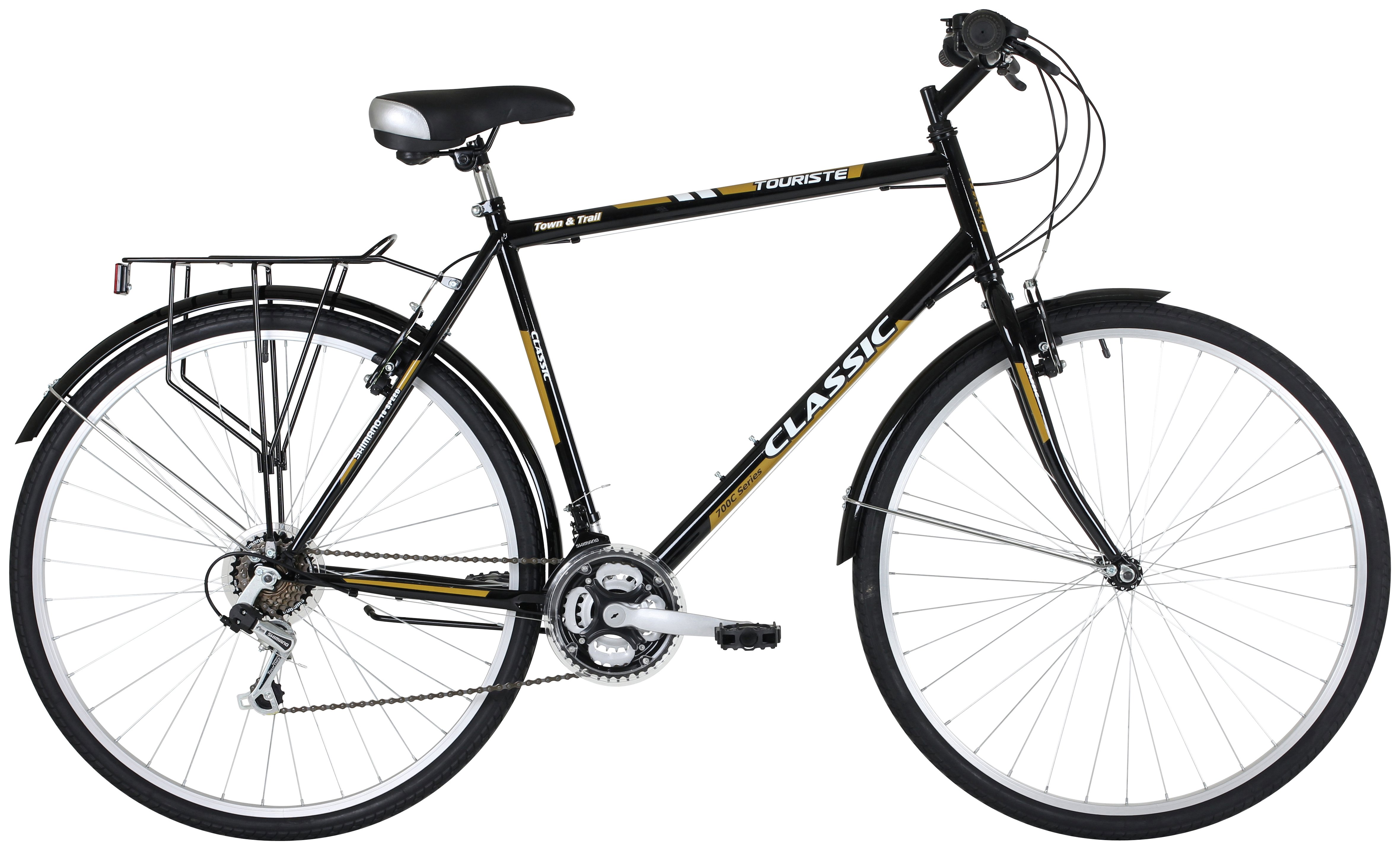 Image of Classic Touriste 700C Commuter Hybrid Bike - Mens
