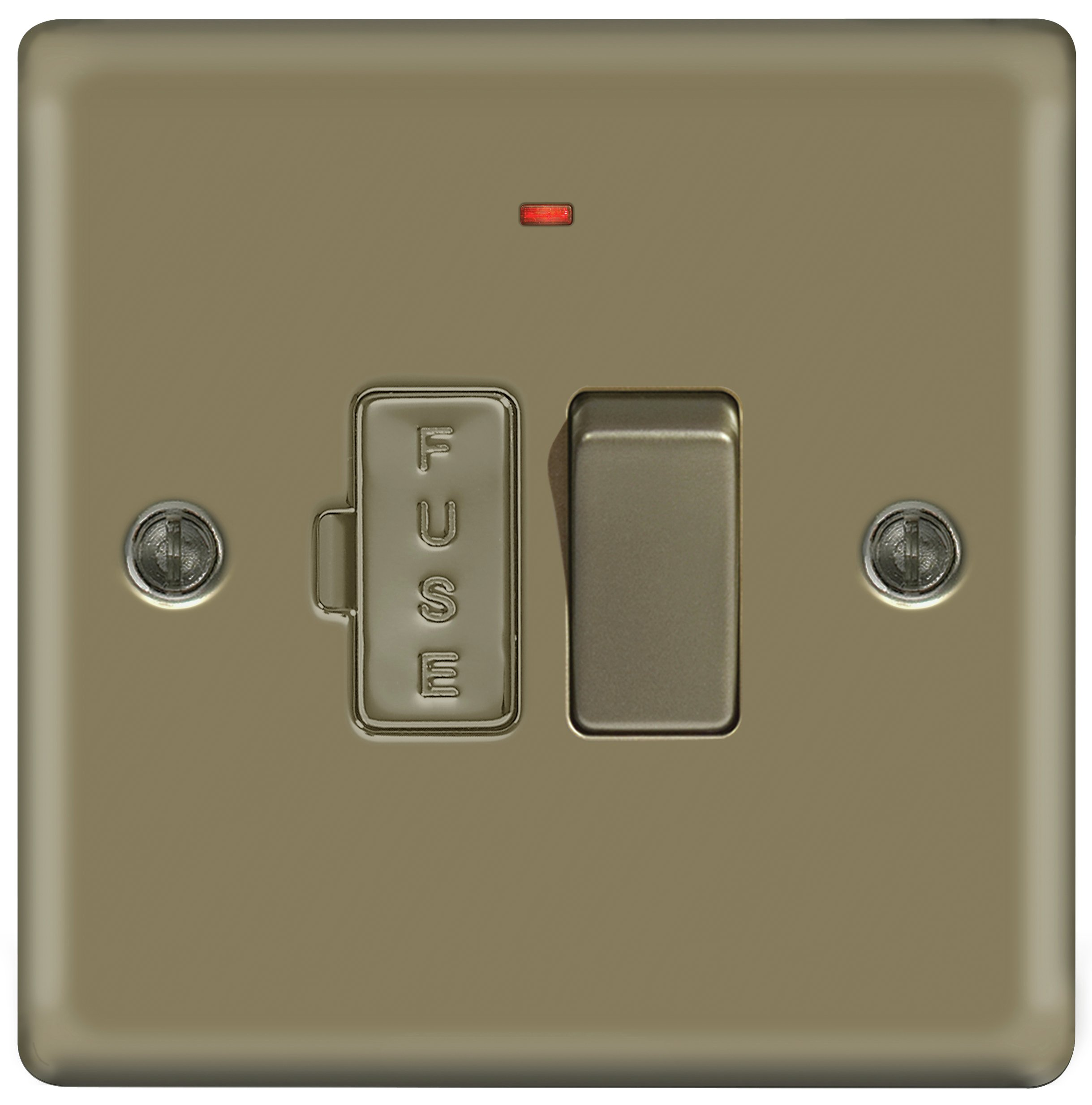 Masterplug - 13A Fused Connection Unit - Pearl Nickel lowest price