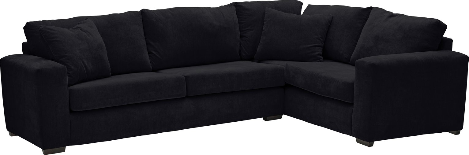Argos Home Eton Right Corner Fabric Sofa - Black