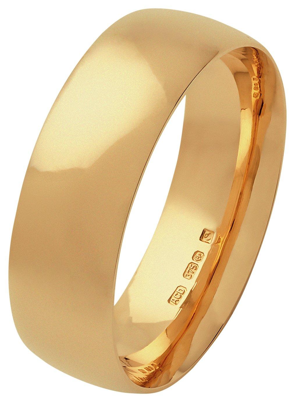 Fairtrade 9 Carat Gold - 6mm Court Shape Wedding Ring