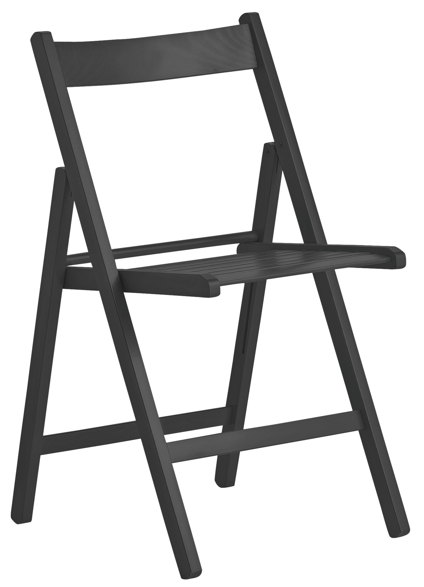 home wooden folding chair black