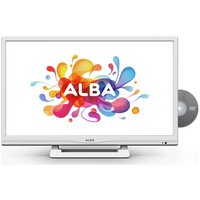 Alba 24'' 720p HD Ready White LED TV with Built-In DVD