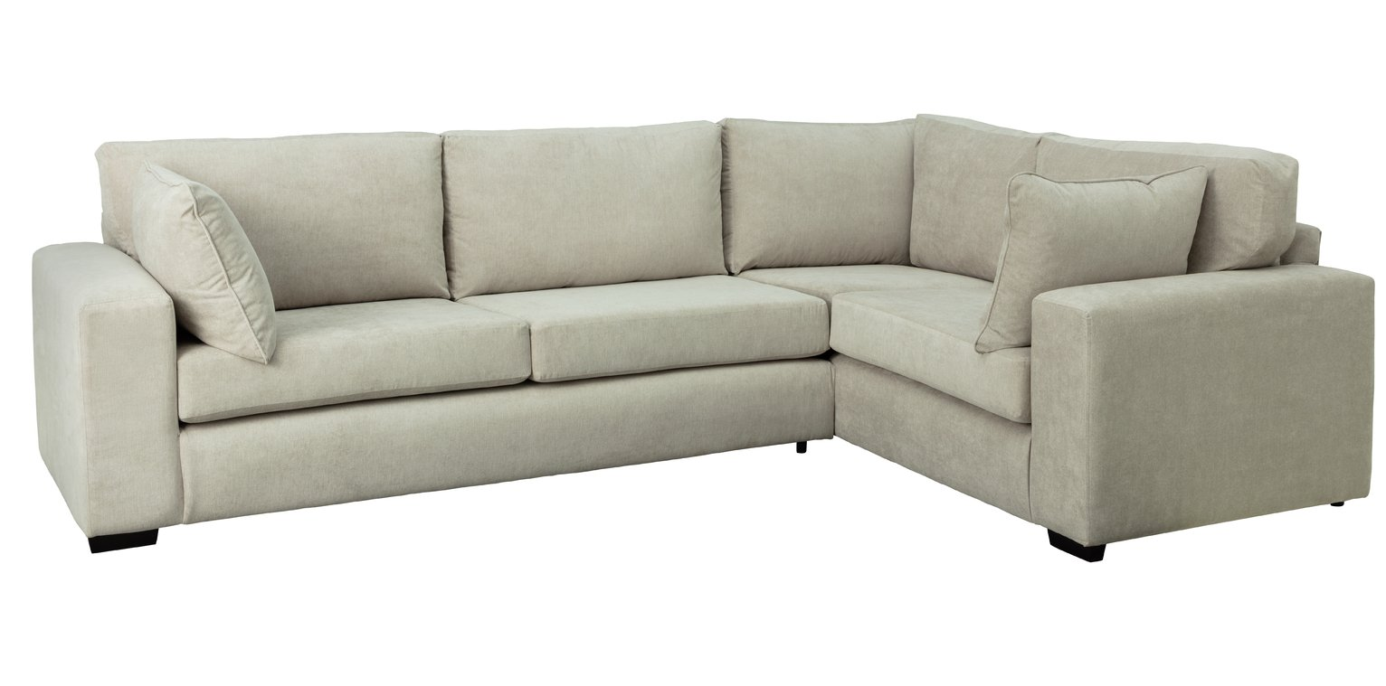 Argos Home Eton Right Corner Fabric Sofa - Grey