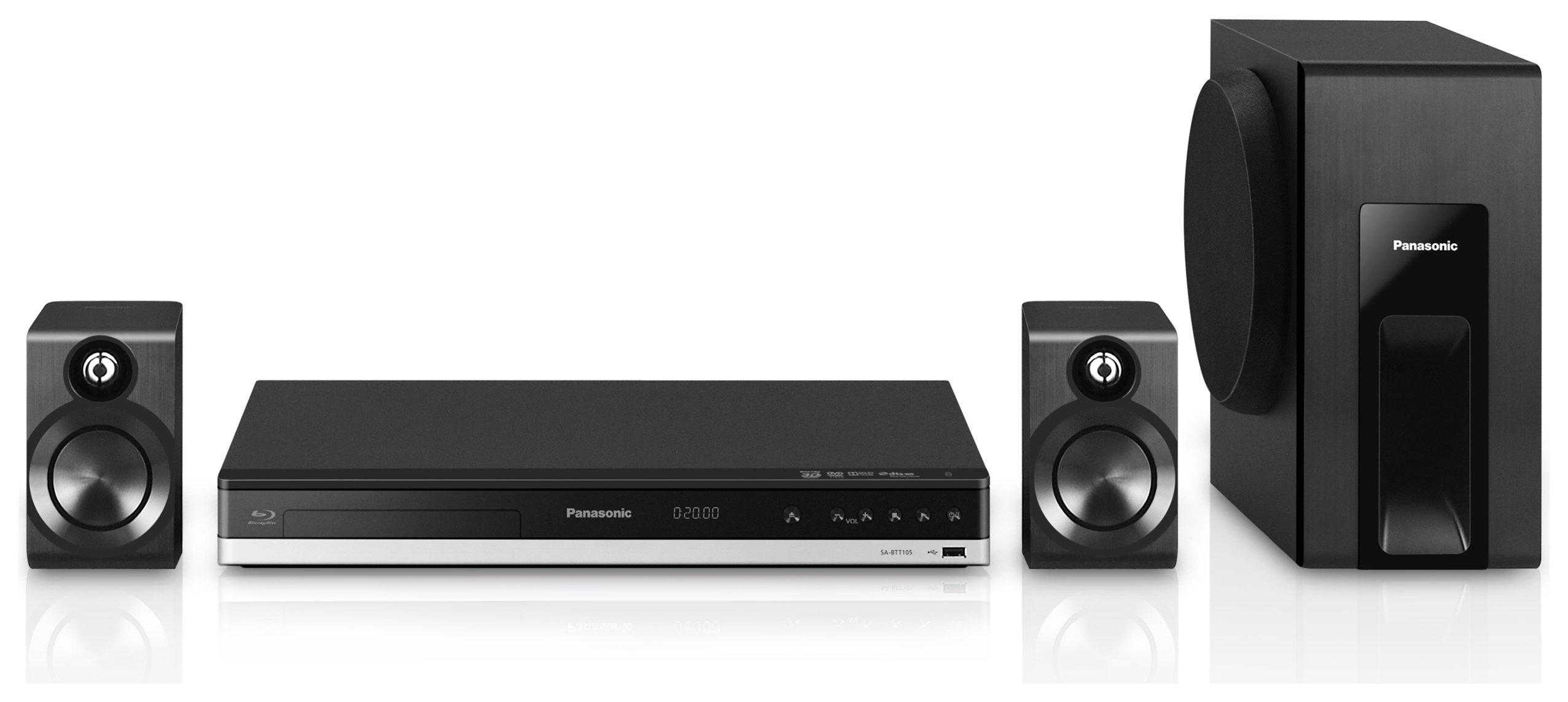 Panasonic - SCBTT105EB9 300W 2.1 Smart 4K Home Cinema System. - Black