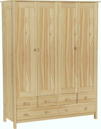 Argos Home New Scandinavia 4 Door 6 Drawer Wardrobe
