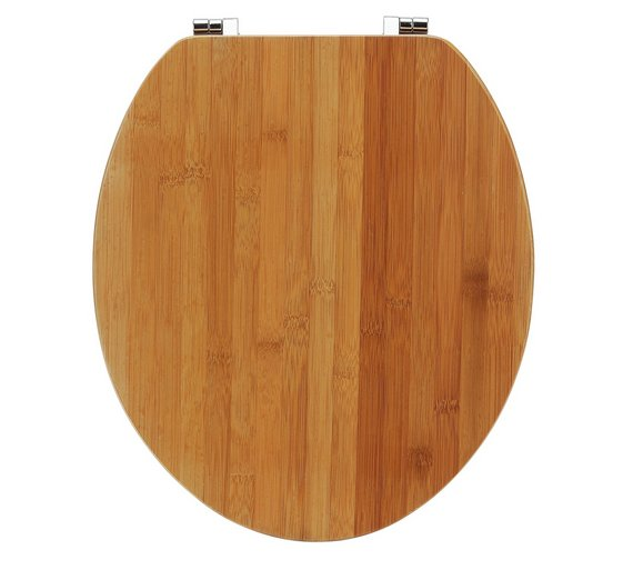 collection solid bamboo toilet seat natural - Bamboo Bathroom Set Uk