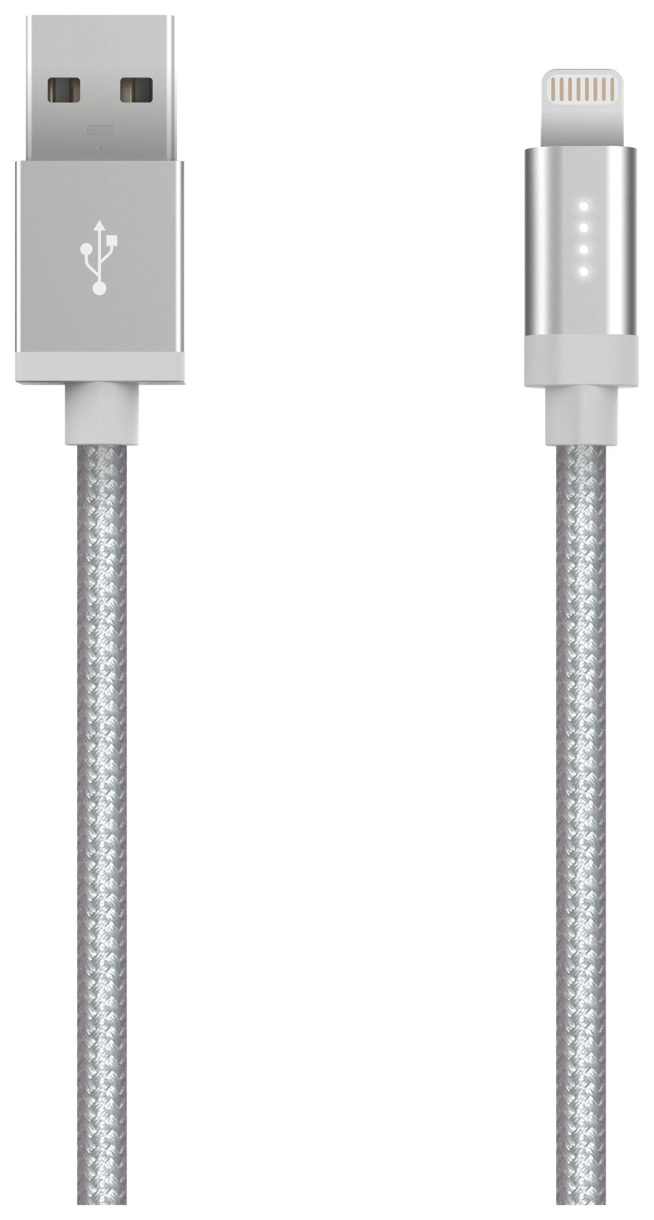 Kanex Lightning USB 1.2m Cable LED - Silver.