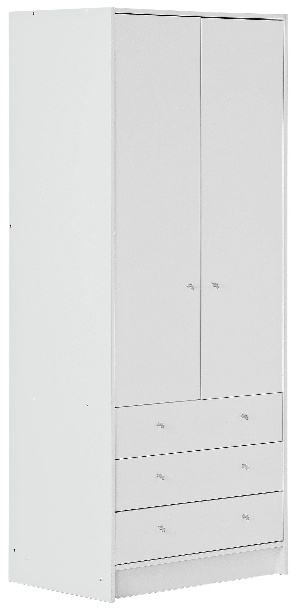 Argos Home Malibu White Gloss 2 Door 3 Drawer Wardrobe