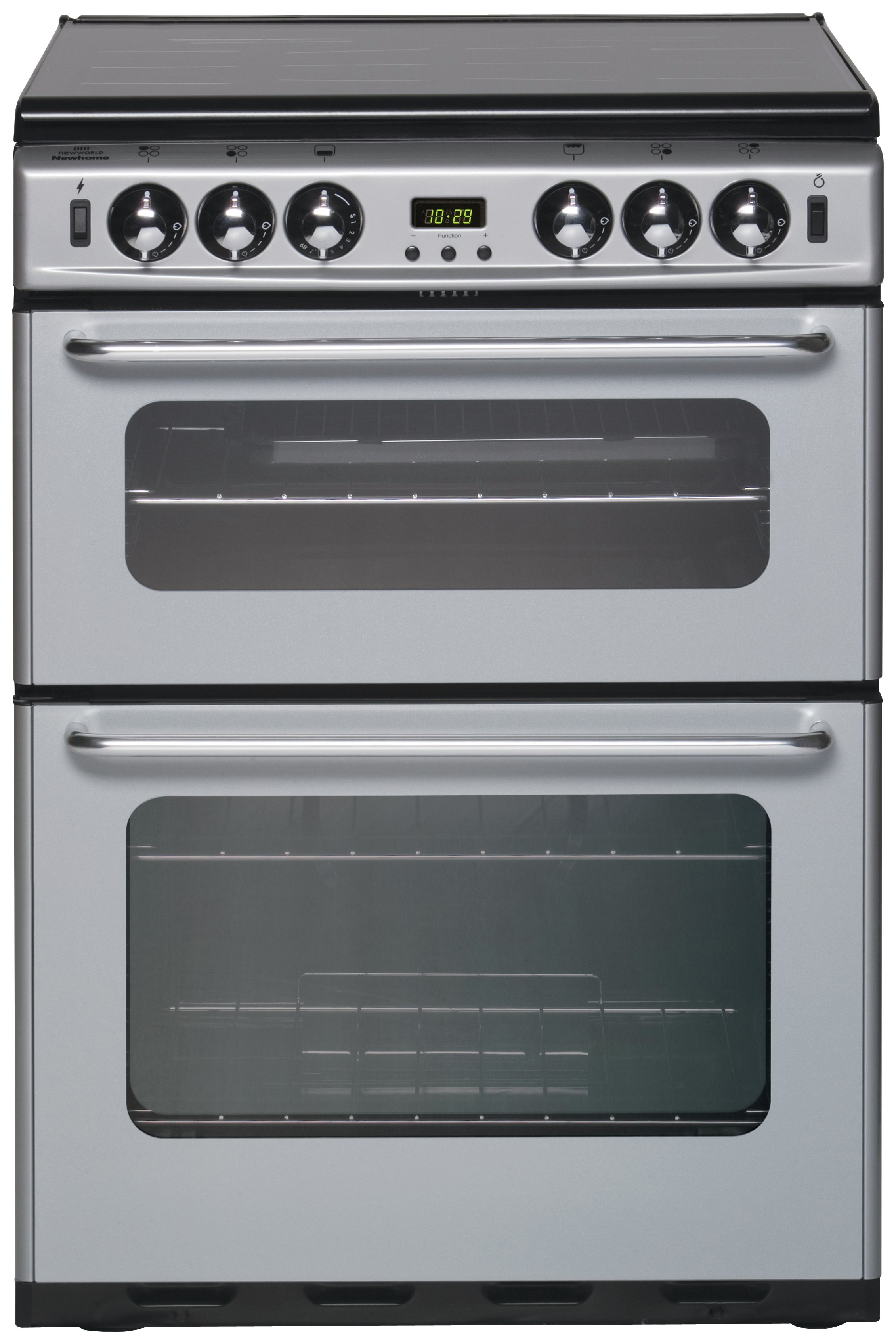 hotpoint hue52ps double electric cooker white ovens. Black Bedroom Furniture Sets. Home Design Ideas