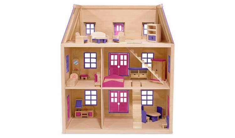 Buy Melissa Doug Multi Level Wooden Dollhouse Wooden Toys Argos