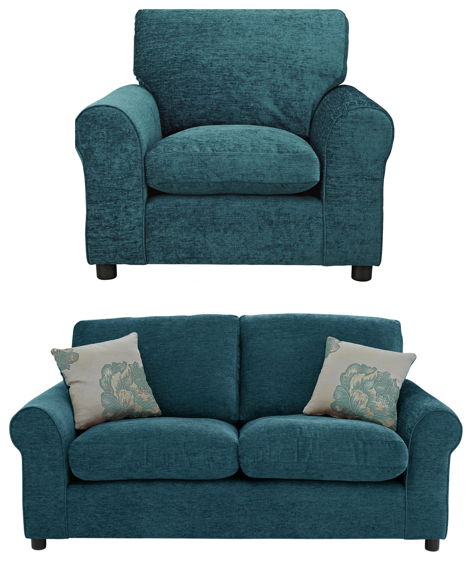 HOME - Tessa Regular Fabric - Sofa and Chair - Teal