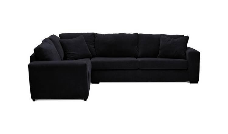 Buy Argos Home Eton Left Corner Fabric Sofa Black Sofas Argos