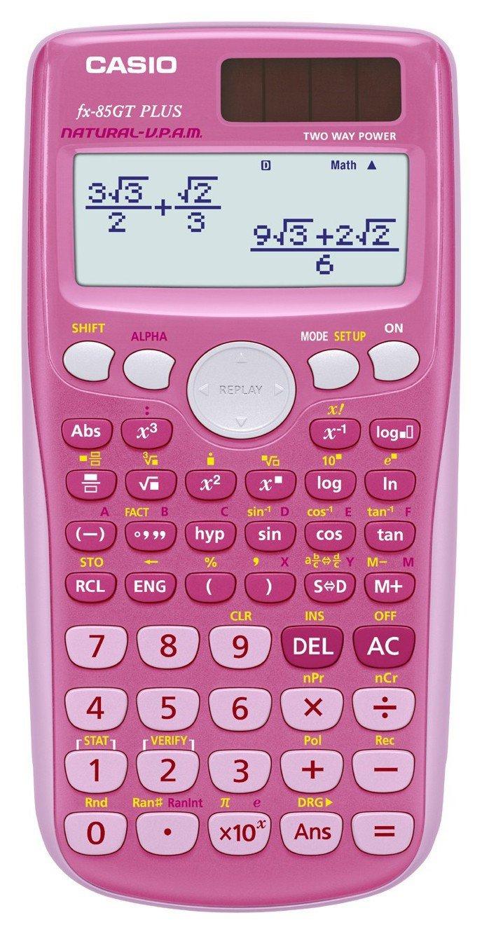 Image of Casio FX-85GT Plus Scientific Calculator - Pink