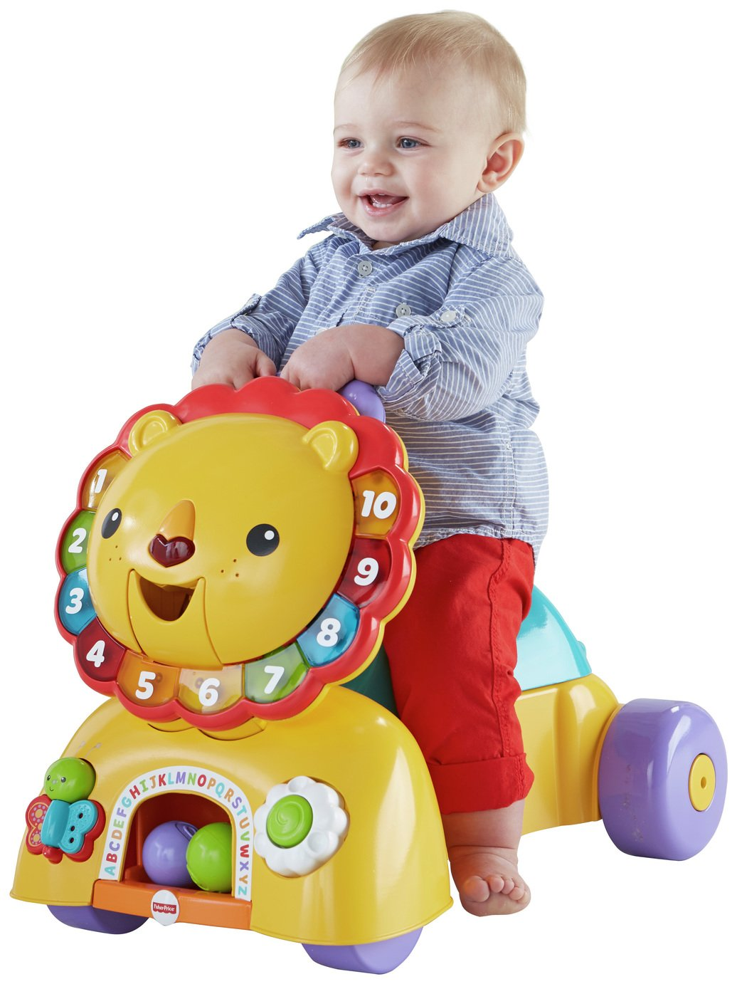 Image of Fisher-Price - 3-in-1 Sit, Stride and Ride Lion