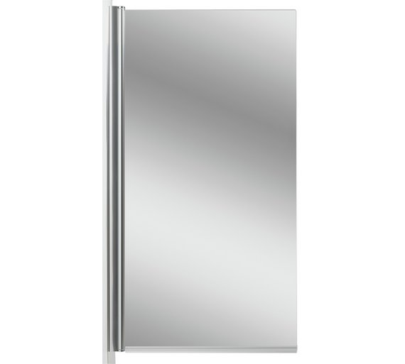buy aqualux semi frameless square shower screen silver. Black Bedroom Furniture Sets. Home Design Ideas