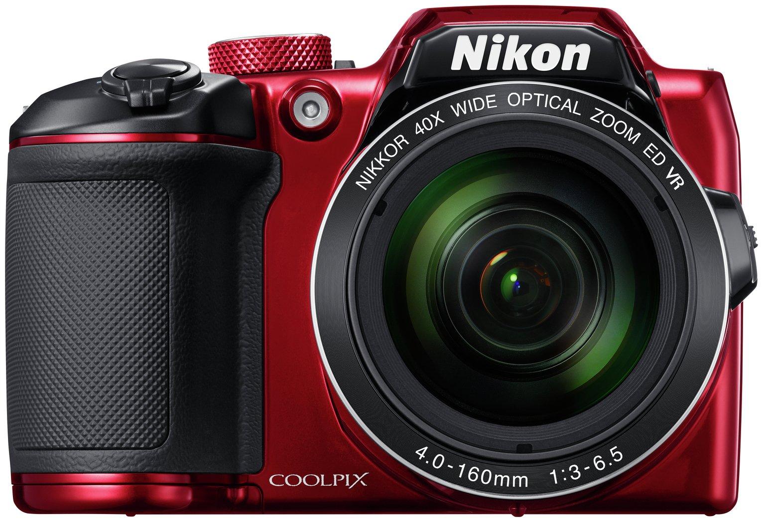 Nikon B500 16MP 40x Zoom Bridge Camera - Red