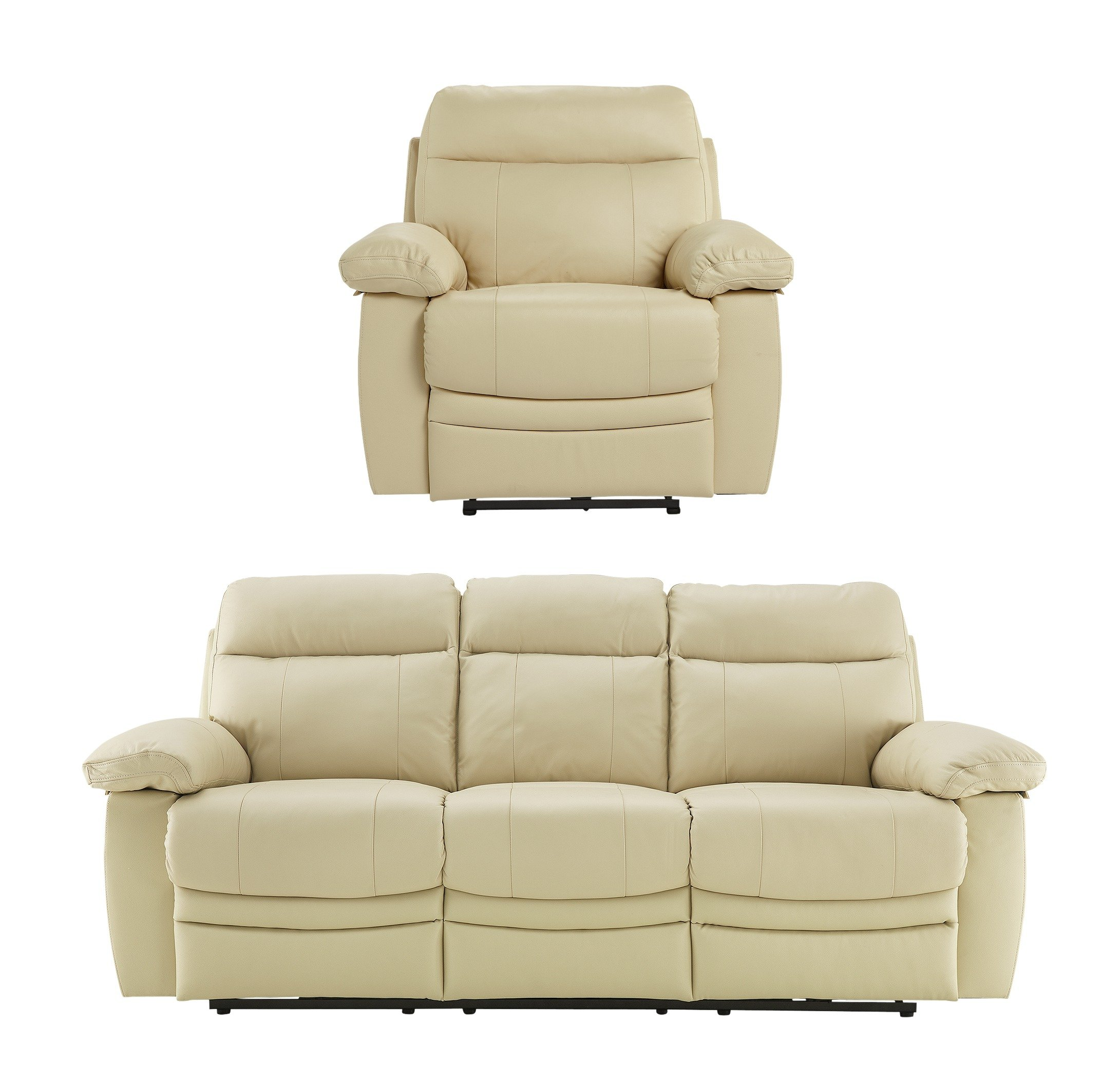 Argos Home - New Paolo Large Power Recliner - Sofa/Chair - Ivory