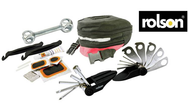 Rolson 33 Piece Bike Tool and Puncture Repair Kit
