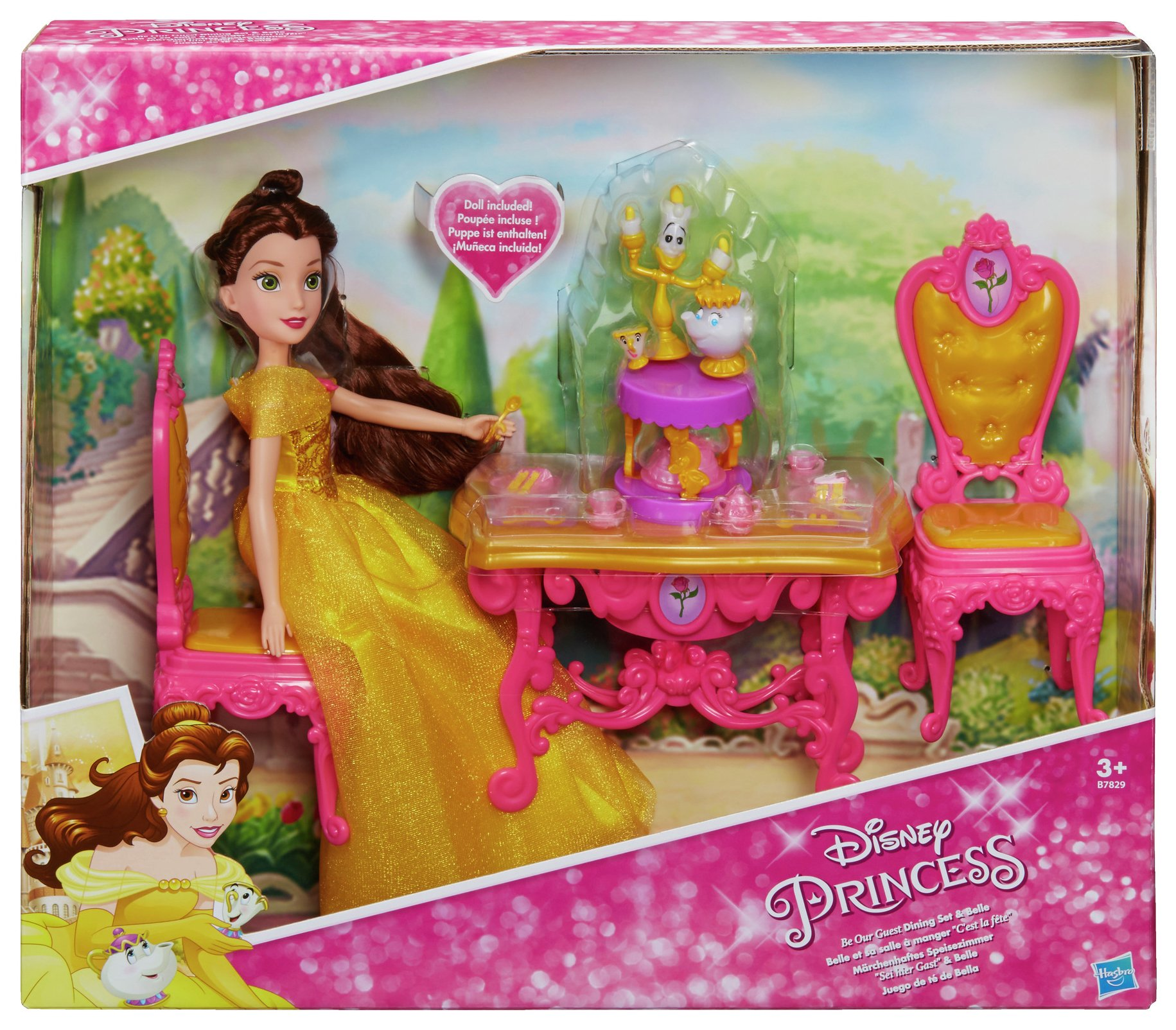 Disney Princess Be Our Guest Dining Set Belle Doll