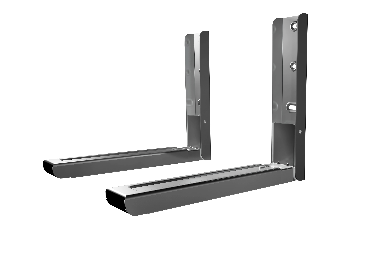 AVF Universal - Microwave Wall Bracket - Silver