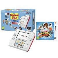 Nintendo - 2DS, Tomodachi Life and Yo-kai Watch - Bundle