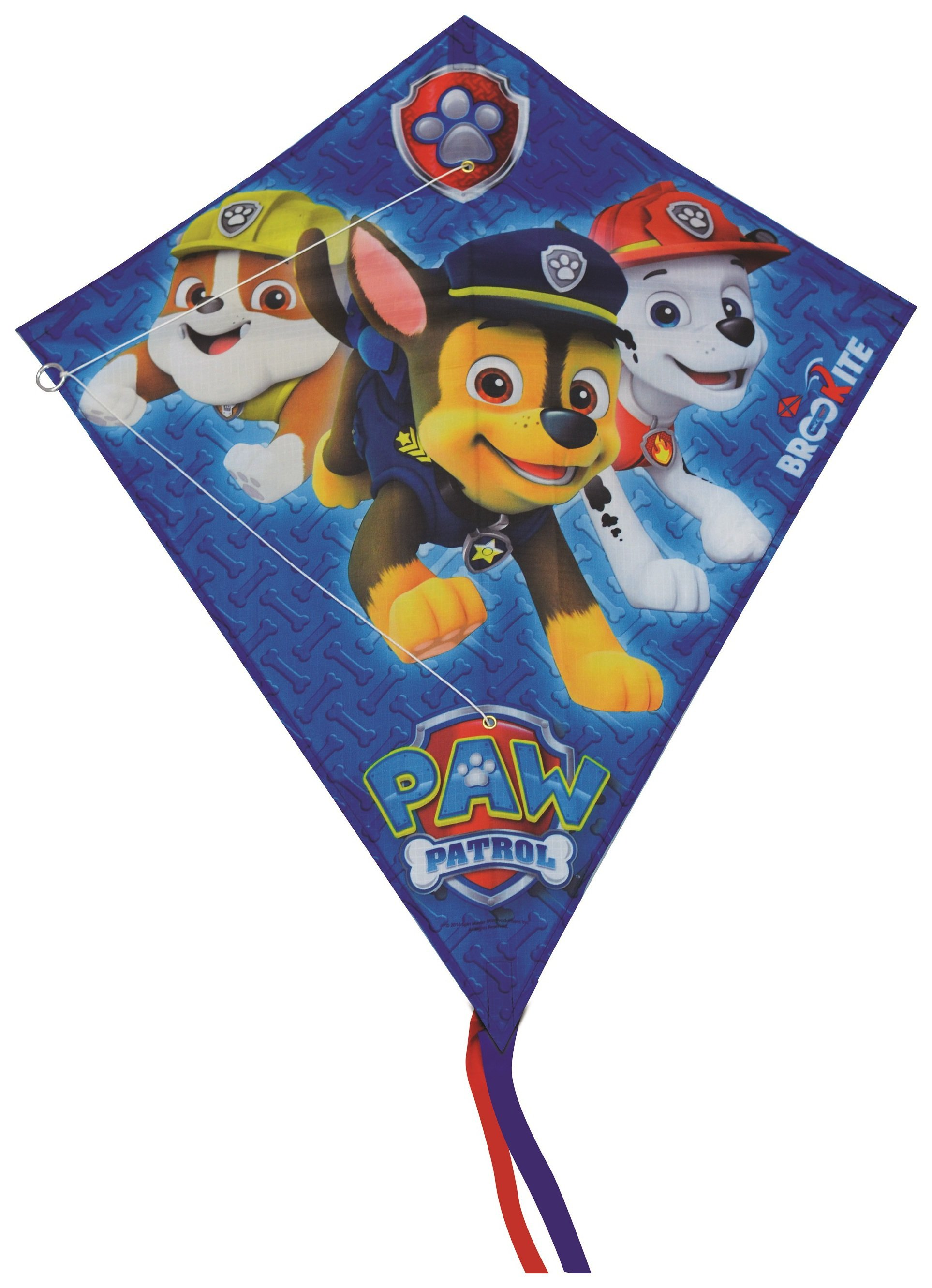 Image of Paw Patrol - Blue Single Line Diamond Kite