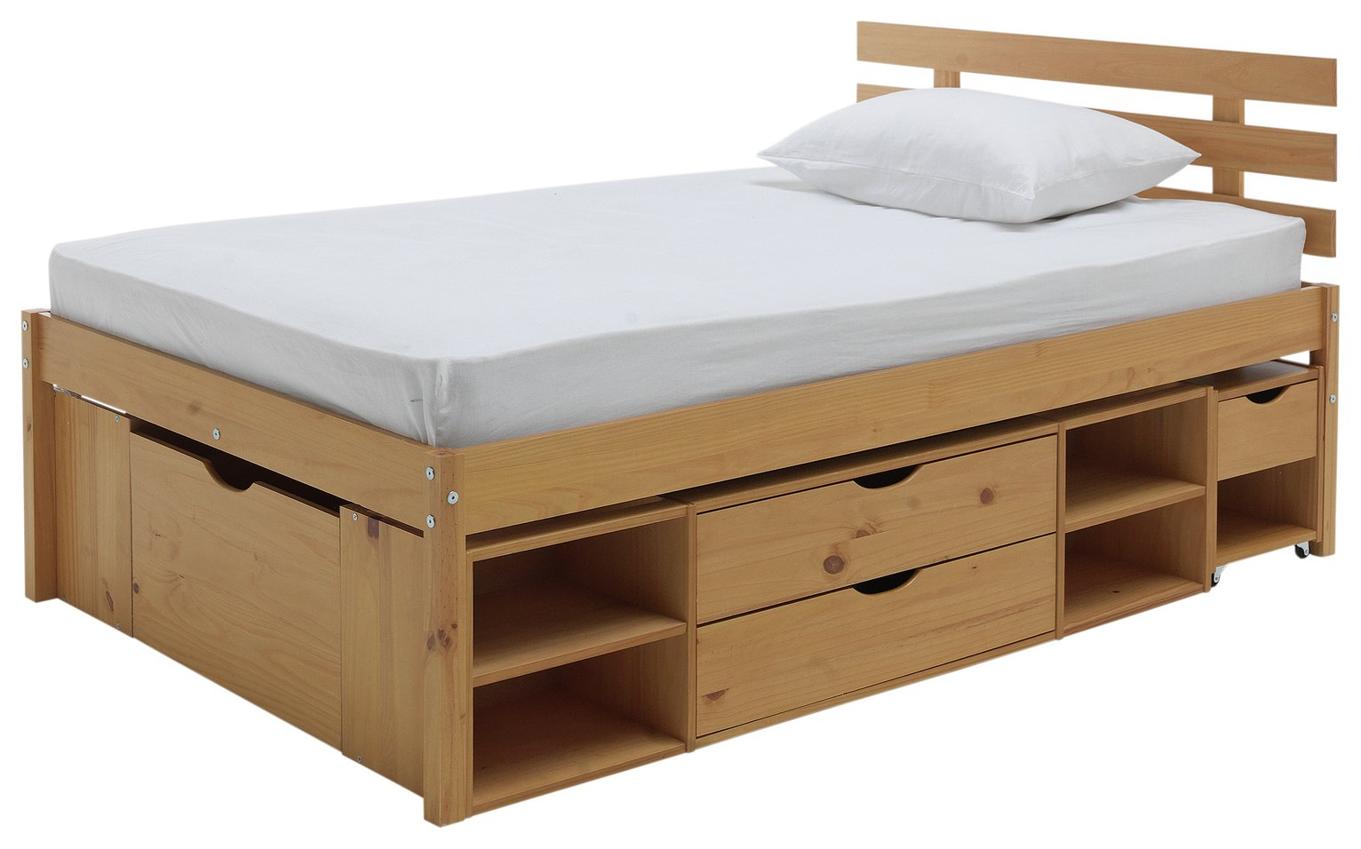 Buy Argos Home Ultimate Storage II Small Double Bed Frame | Bed ...