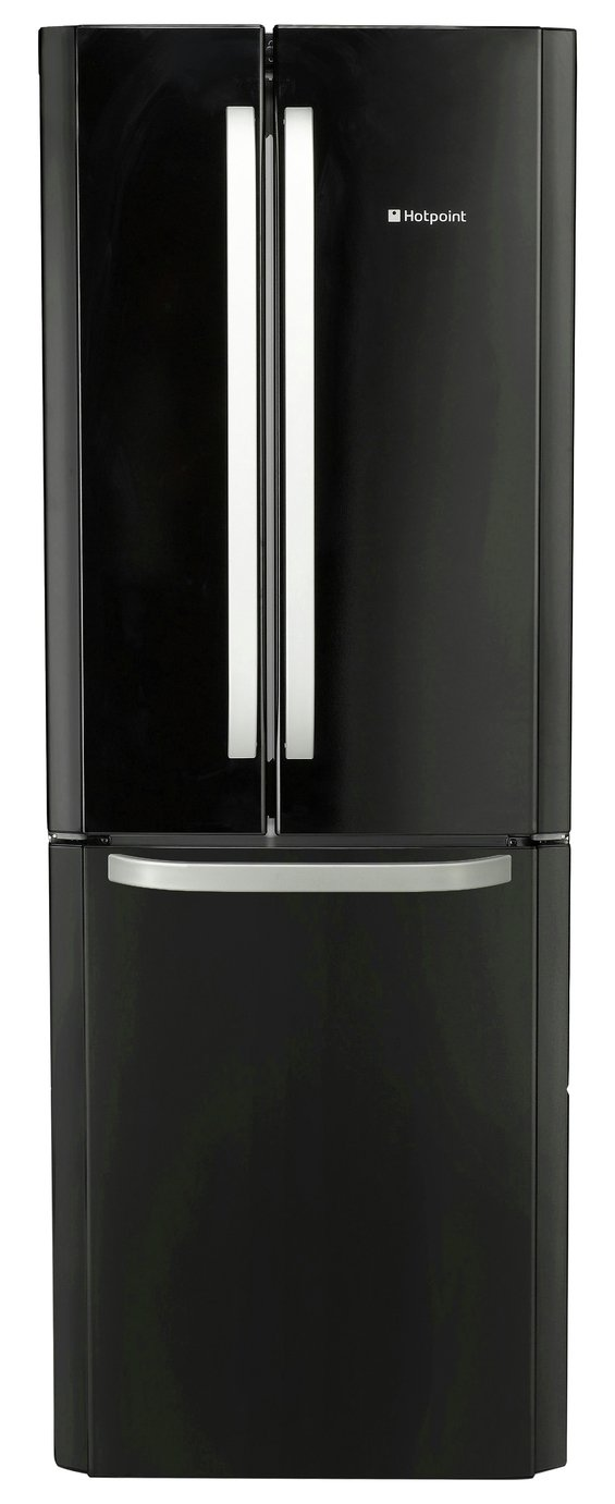 Hotpoint FFU3DK American Fridge Freezer - Black Best Price, Cheapest Prices