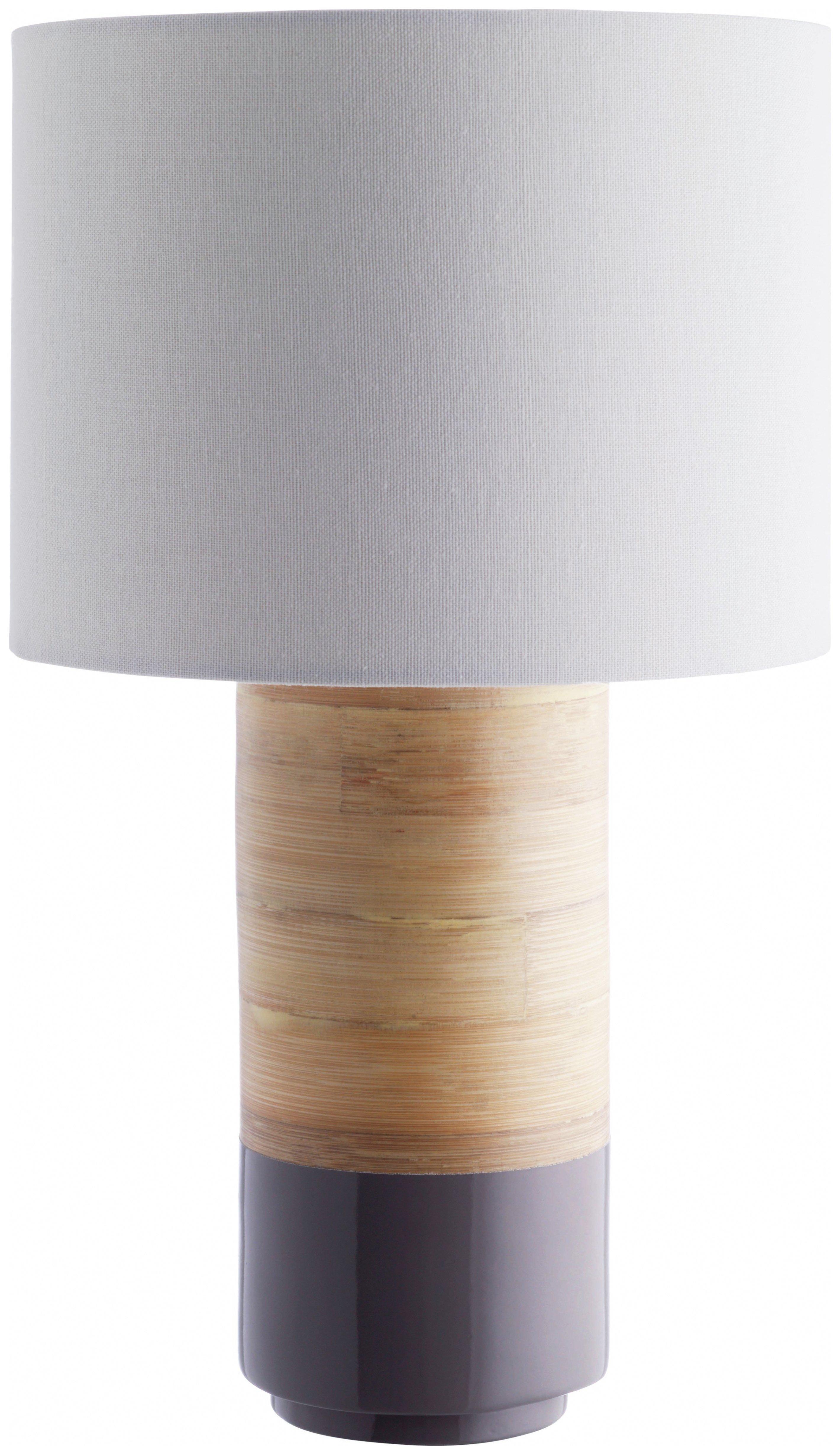 Image of Habitat - Tub Grey Spun Bamboo - Table Lamp