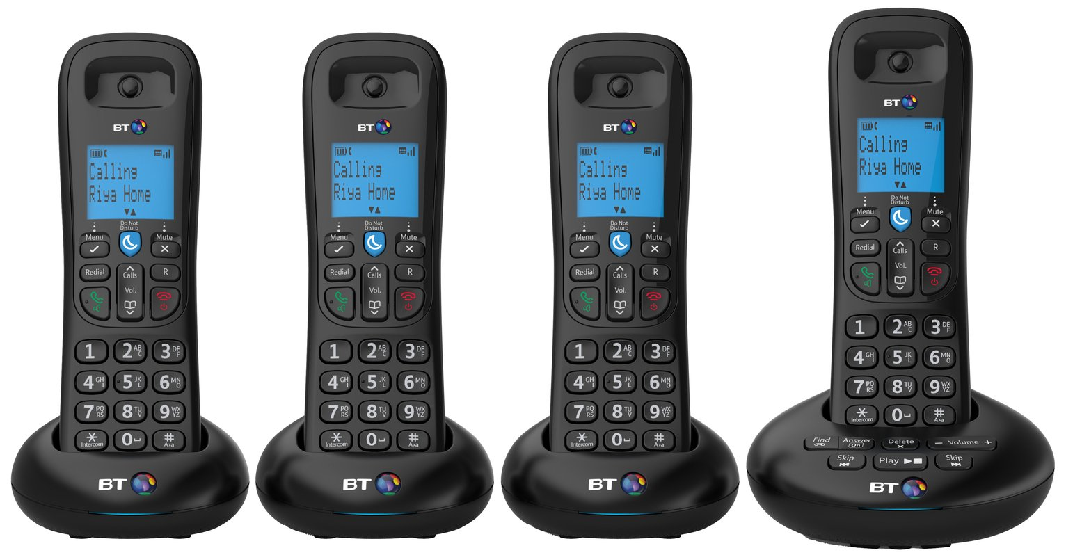 Image of BT - 3570 - Cordless Telephone & Answer Machine - Quad