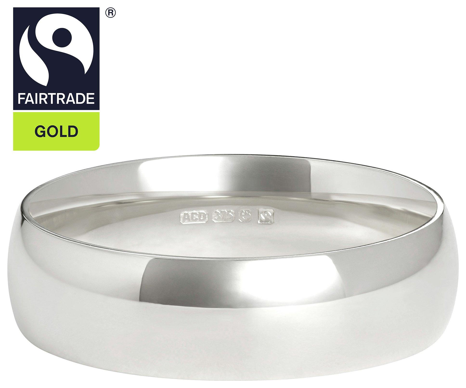 Fairtrade 9 Carat Yellow Gold 5mm D-Shape Wedding Ring-U