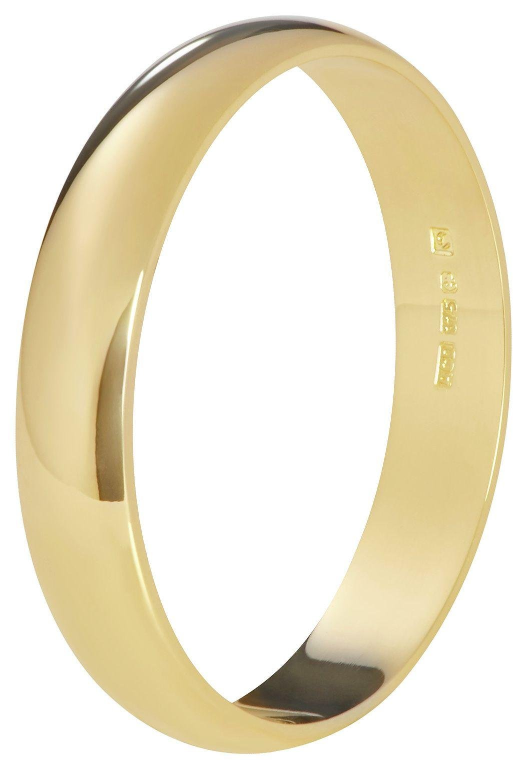 Fairtrade 9 Carat Yellow Gold 3mm D-Shape Wedding Ring-N
